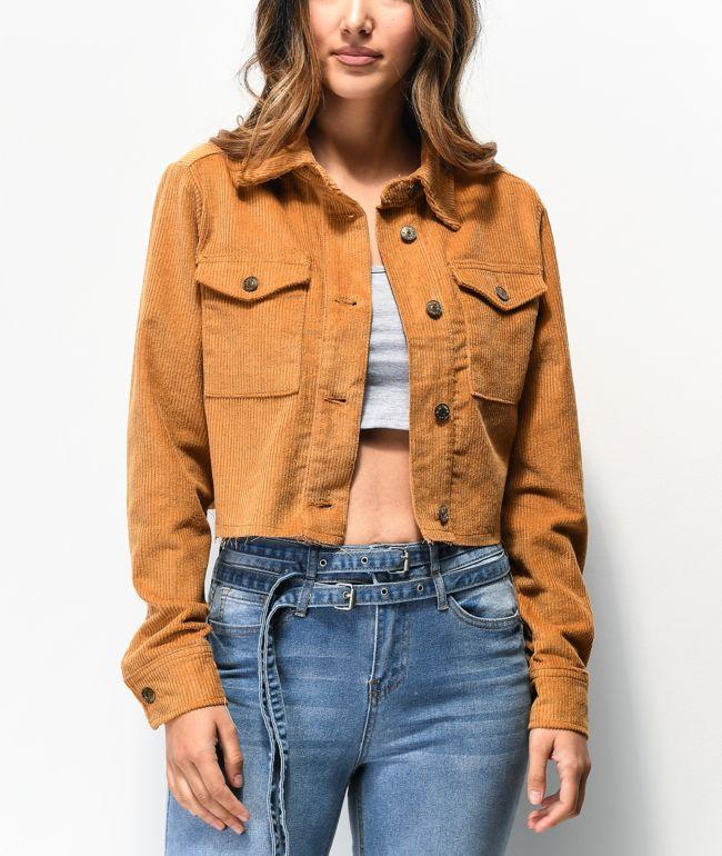 Almost Famous chaqueta corta de pana mostaza