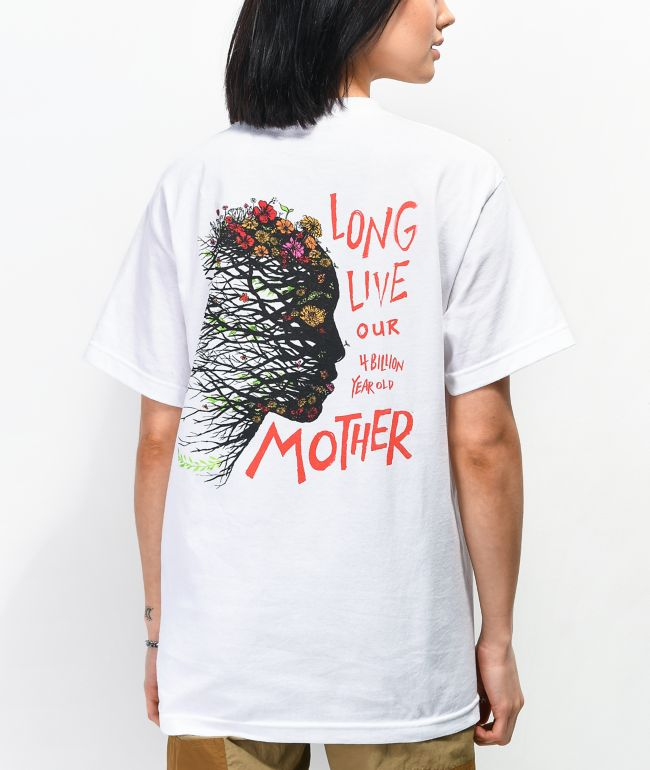 Amplifier Long Live Mother White T-Shirt
