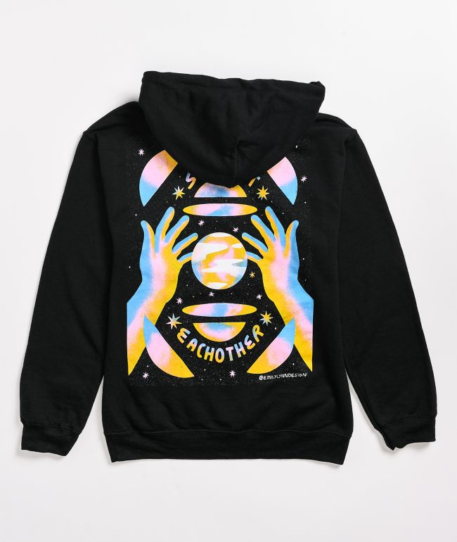 Amplifier Support Each Other Black Hoodie