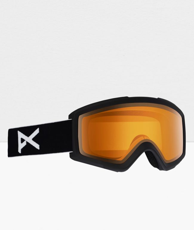 Anon Helix 2.0 Black & Amber Snowboard Goggles