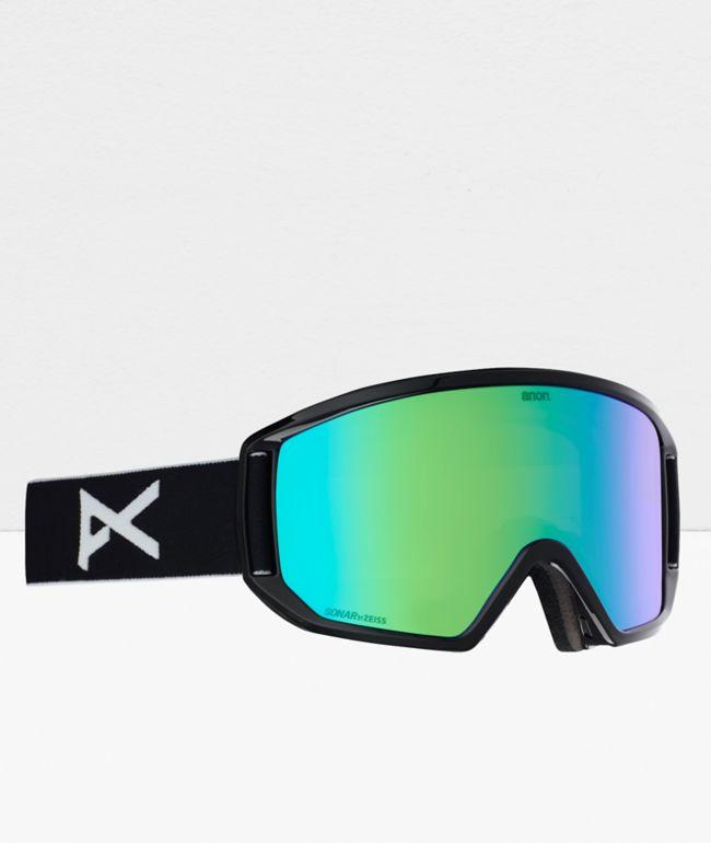 Anon Relapse Black & Sonar Green Snowboard Goggles