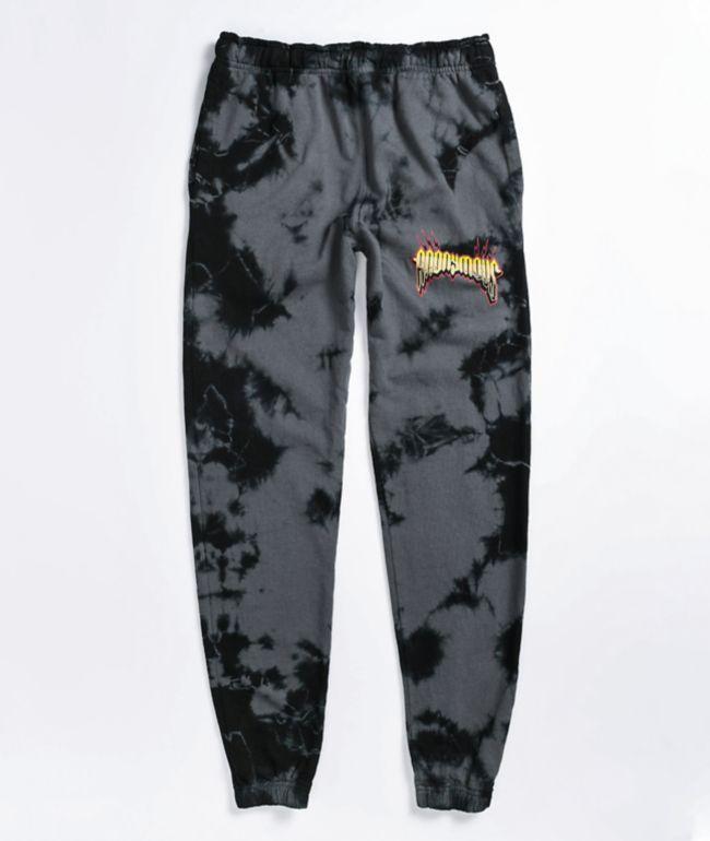 Anonymous Black Tie Dye Sweatpants