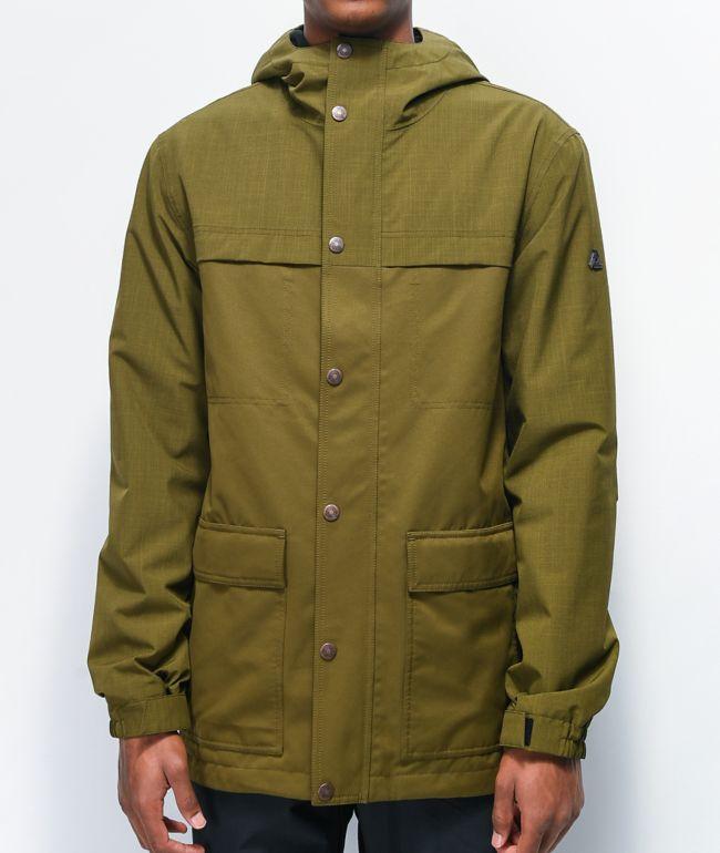 Aperture Pigtail Olive Green 10K Snowboard Jacket