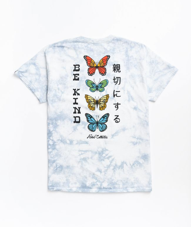 Artist Collective Be Kind Grey Tie Dye T-Shirt