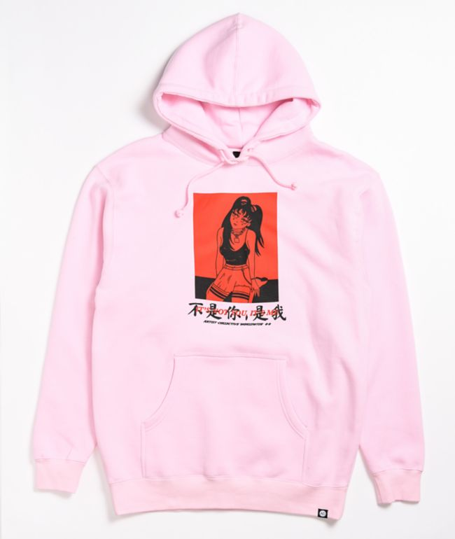Artist Collective Not You Kanji Pink Hoodie