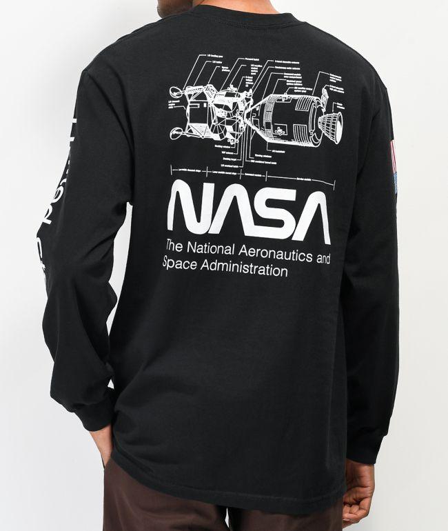 Artist Collective x NASA Dock Black Long Sleeve T-Shirt