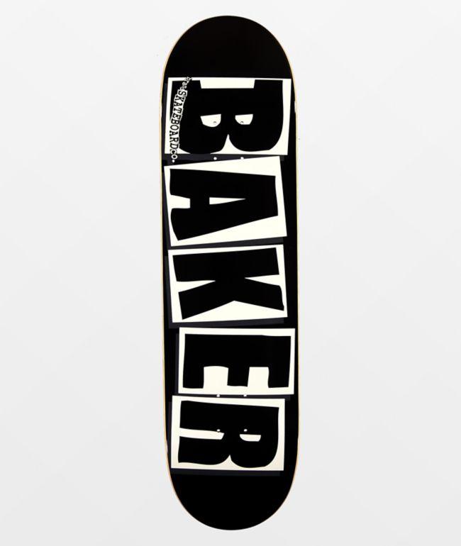 """Baker Brand Logo Black & White 8.25"""" Skateboard Deck"""