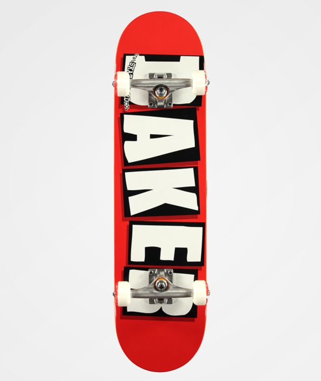 """Baker Brand Logo Red 8.0"""" Skateboard Complete"""