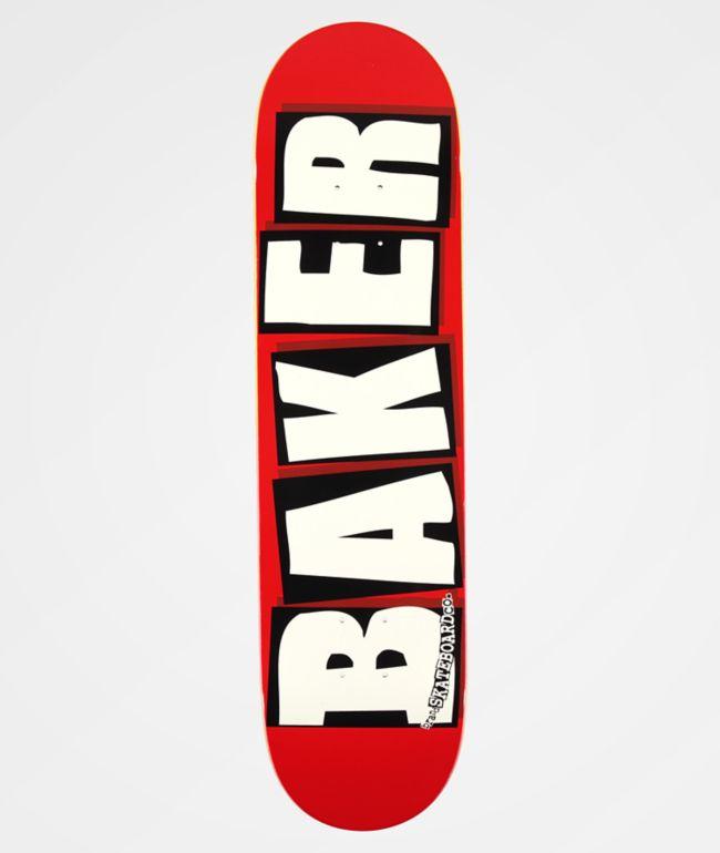 """Baker Brand Logo White & Red 8.0"""" Skateboard Deck"""