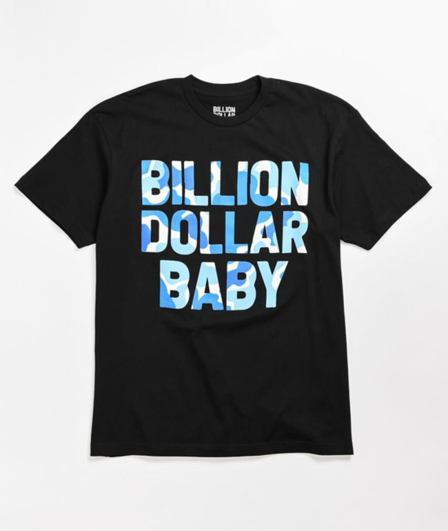 Billion Dollar Baby Blueberry Camo Black T-Shirt