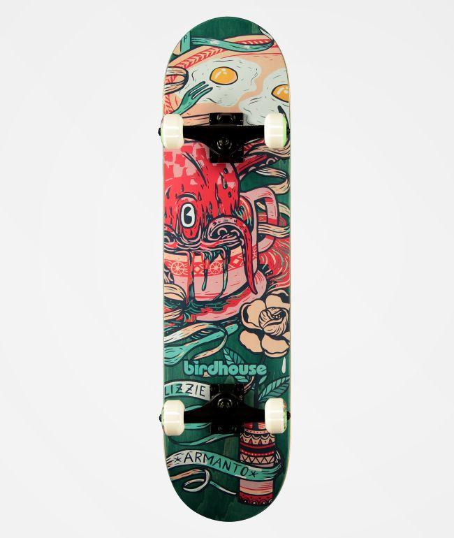"Birdhouse Lizzie Favorites Green 7.75"" Skateboard Complete"