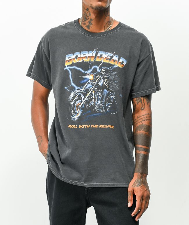 Born Dead The Reaper Washed Black T-Shirt