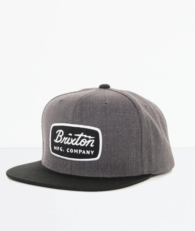 Brixton Jolt gorra negra y gris