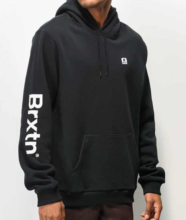Brixton Stowell VII Black Hoodie