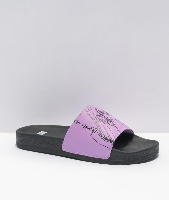 Broken Promises Anime Lavender Slides