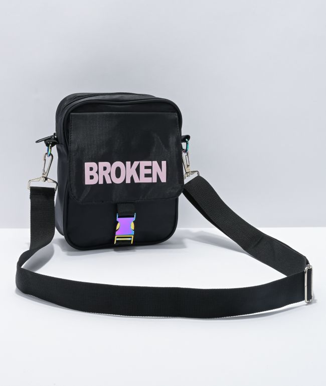 Broken Promises Crosshairs Black Shoulder Bag