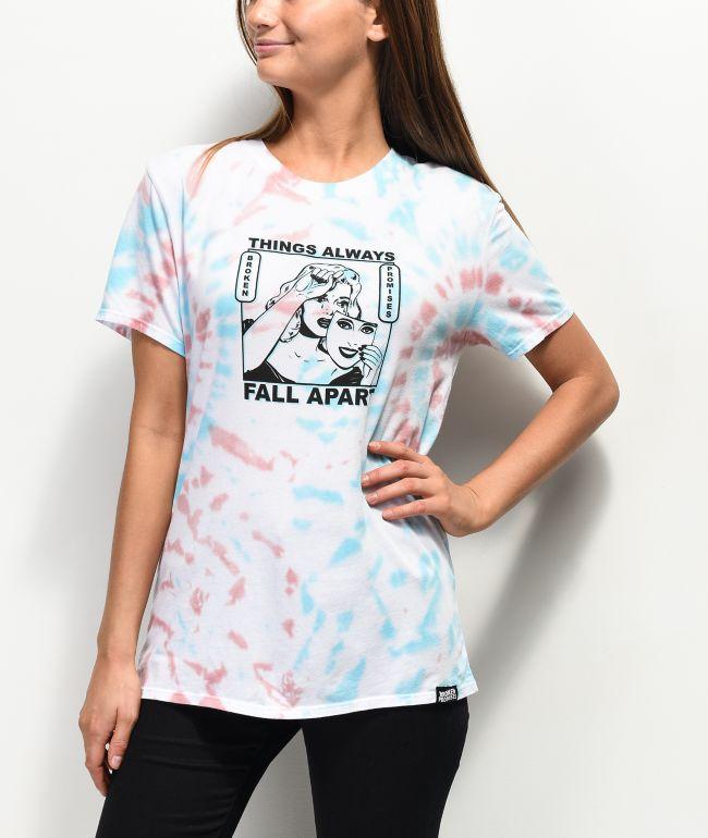 Broken Promises Fall Apart Tie Dye T-Shirt
