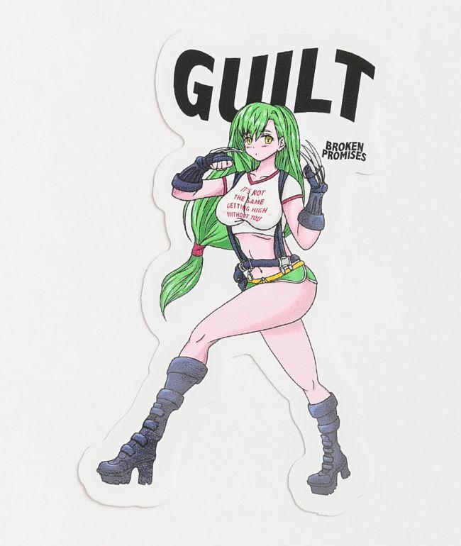 Broken Promises Guilt Fighter Anime Sticker