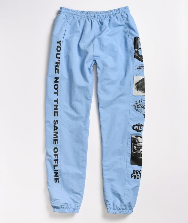 Broken Promises Social Media Drama Blue Track Pants