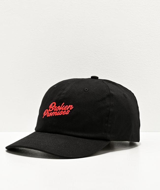 Broken Promises Things Have Changed Black Strapback Hat