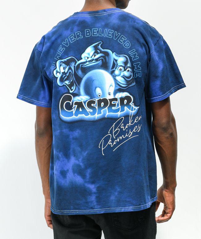 Broken Promises x Casper Never Believed Blue Tie Dye T-Shirt