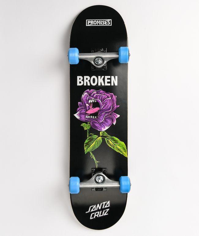 "Broken Promises x Santa Cruz Screaming Thornless 8.0"" Skateboard Complete"