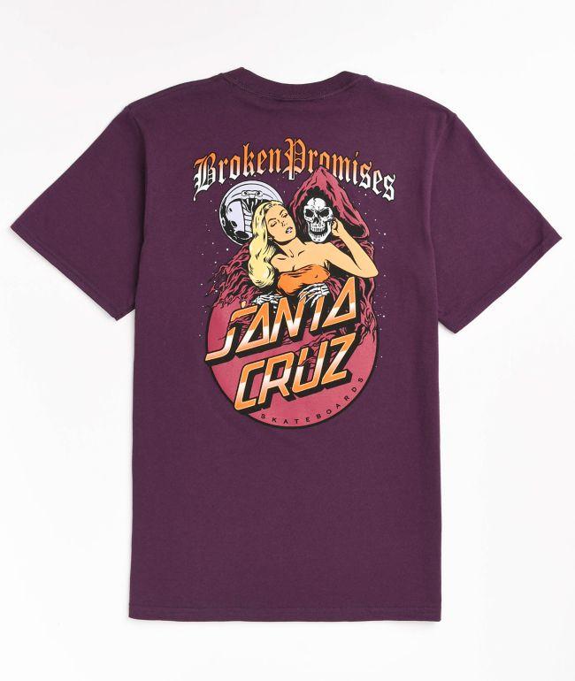 Broken Promises x Santa Cruz Smother Purple T-Shirt