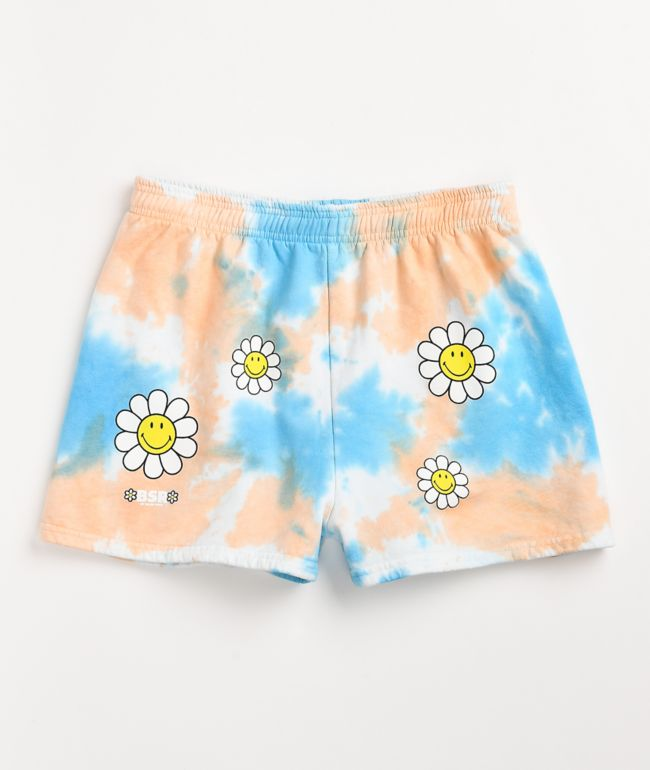 By Samii Ryan x Smiley One Of Those Days Tie Dye Sweat Shorts