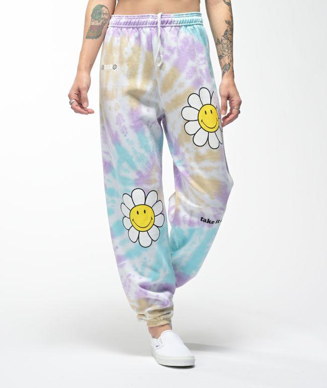 By Samii Ryan x Smiley Take It Easy Tie Dye Sweatpants