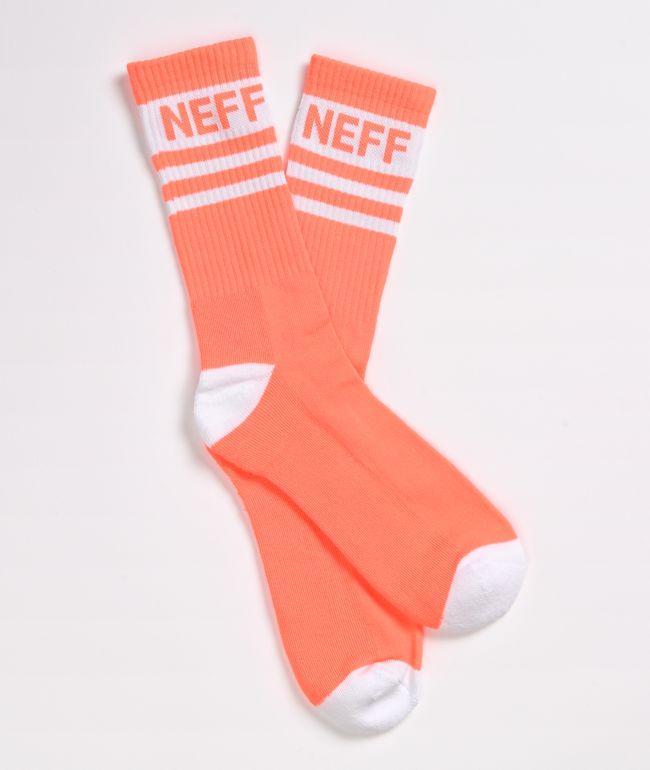 Calcetines rojos neón con rayas blancas de Neff