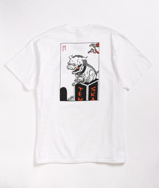 Camiseta blanca Lions de Temple Of Skate