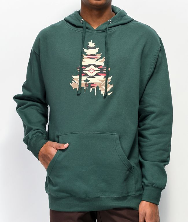 Casual Industrees WA Native Johnny Tree Green Hoodie