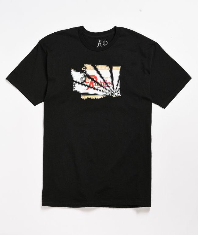 Casual Industrees x Rainier Beer Brah Black T-Shirt
