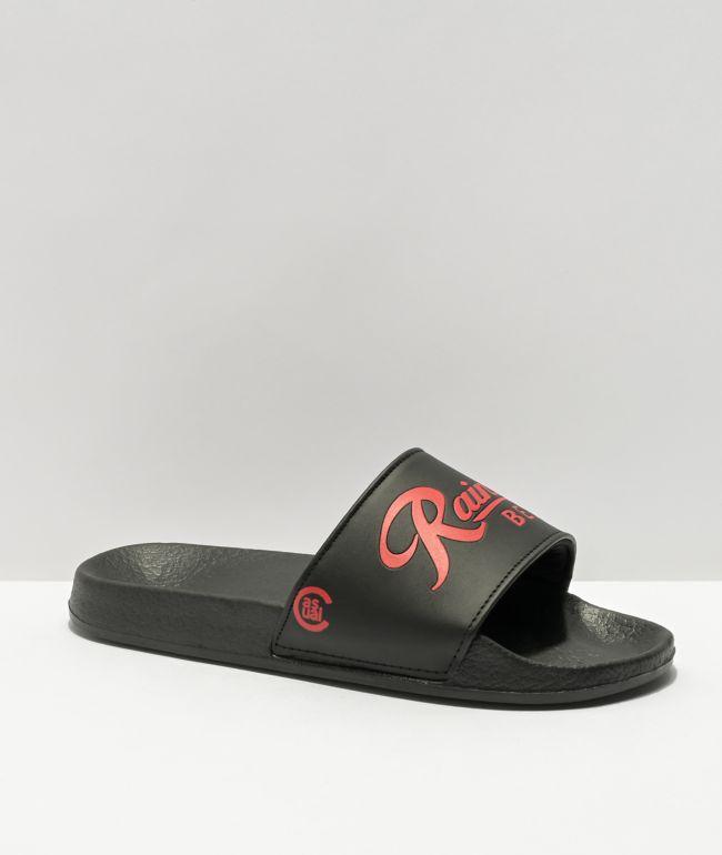 Casual Industrees x Rainier Black & White Slide Sandals