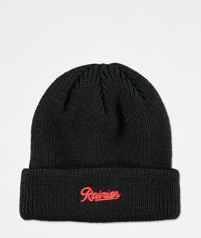 Casual Industrees x Rainier Black Beanie