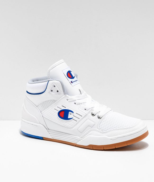 Champion 3 On 3 White & Gum Shoes