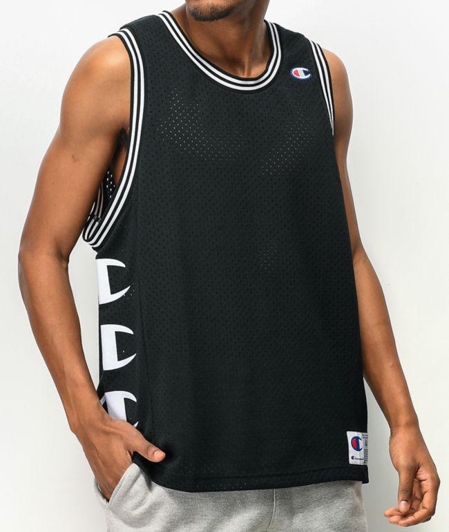 Champion Black Mesh Basketball Jersey