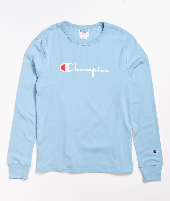Champion Boyfriend Candid Blue Long Sleeve T-Shirt