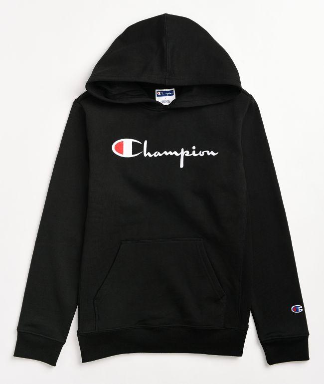 Champion Boys Vintage Black Hoodie
