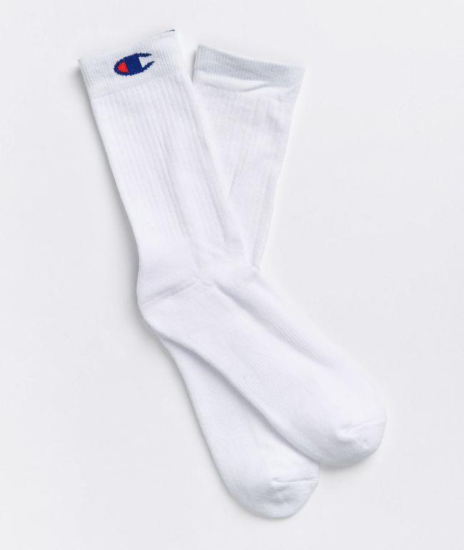 Champion C-Life White Fold-Over Crew Socks