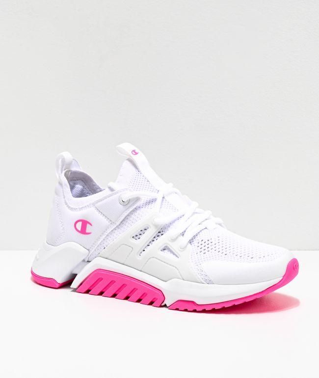 Champion D1 Pink \u0026 White Shoes | Zumiez