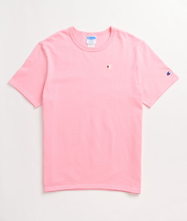 Champion GT19 Heritage Small Embroidered Pink T-Shirt