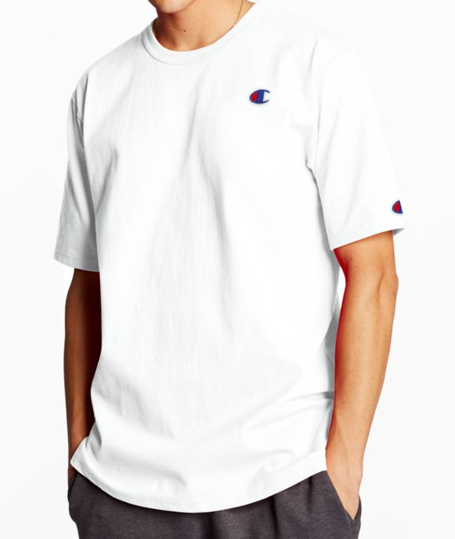 Champion Heritage Embroidered C White T-Shirt