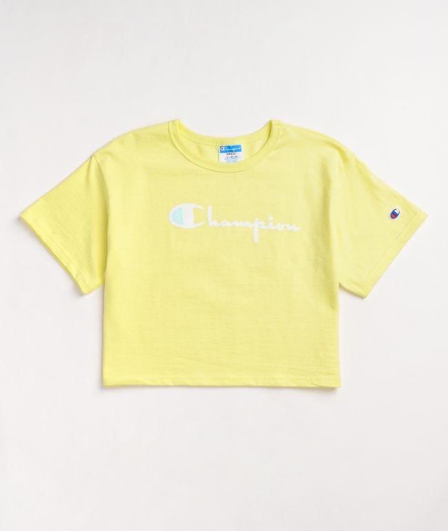 Champion Heritage Lemon Glacier Crop T-Shirt
