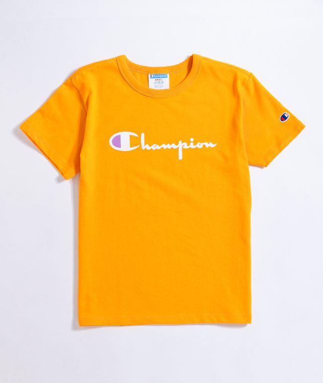 Champion Heritage Script Gold T-Shirt
