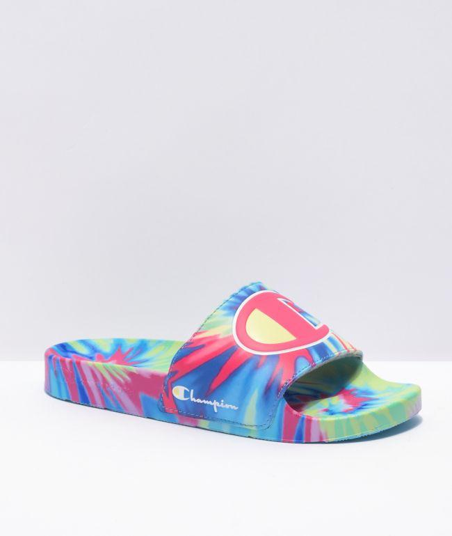 Champion IPO Tie Dye Slide Sandals
