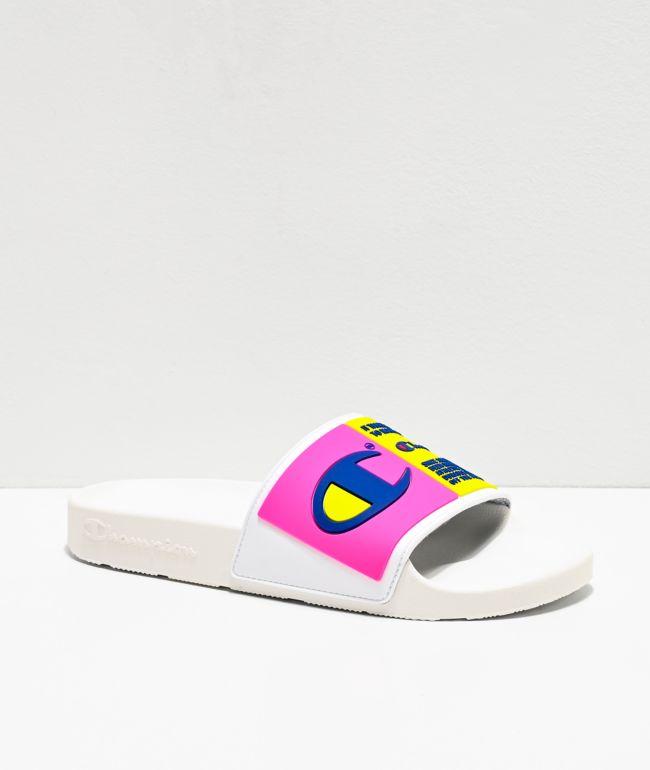 champion sandals pink