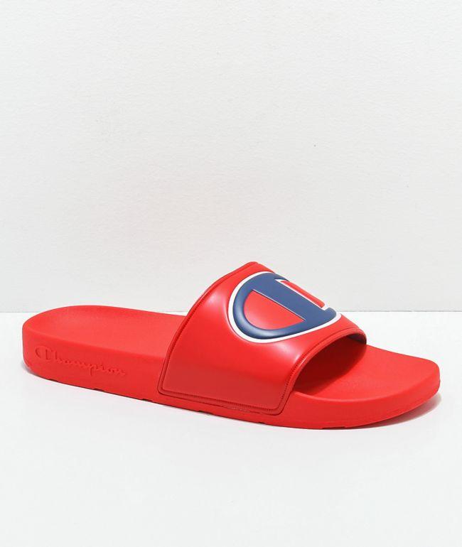 Champion Men's IPO Red Slide Sandals