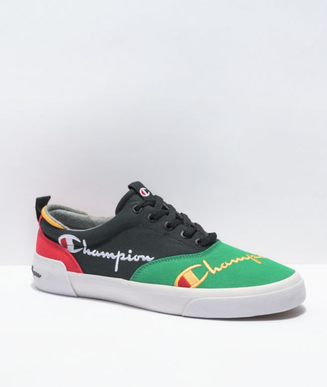 Champion Men's Swipe Colorblock Black & Multi Shoes