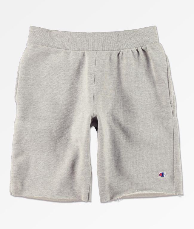 Champion Oxford shorts de punto gris de tejido inverso